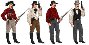 Four Cowboys Stock Images