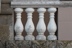 Four cracked columns Royalty Free Stock Image