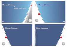 Four Cristmas cards. A  illustration of four Christmas cards Royalty Free Stock Photography