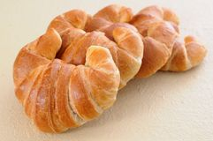 Four croissants Royalty Free Stock Image