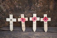 Four cross at hellfire pass memorial museum Royalty Free Stock Photos