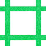 Four crossing green satin bands isolated on white Royalty Free Stock Images