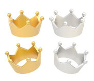 Four crown renders isolated Stock Image