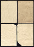 Four Crumpled Paper Texture Royalty Free Stock Photography