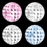 Four crystal on black space. Vector Stock Photography