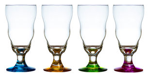 Four Crystal Glasses Stock Photos