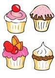 Four cupcakes Stock Photo