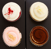Four of cupcakes Stock Photo