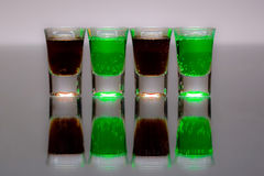Four cups. Of alcohol to drink Royalty Free Stock Photography