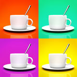 Four cups  Stock Image