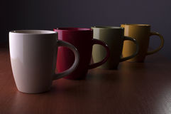 Four cups Stock Photography