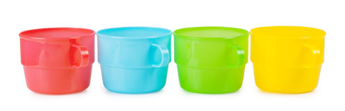 Four cups in a row Royalty Free Stock Photography
