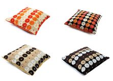 Four cushions with texture Royalty Free Stock Photography