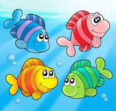 Four cute fishes Stock Photography