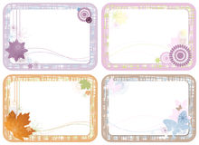 Four cute floral cards Royalty Free Stock Photos