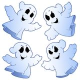 Four cute ghosts Royalty Free Stock Photos