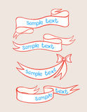 Four cute ribbons Royalty Free Stock Image