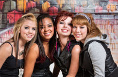 Four Cute Teens Royalty Free Stock Images