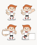 Four Cute vector Mascot set. Four pose high quality vector mascot set Royalty Free Stock Photo