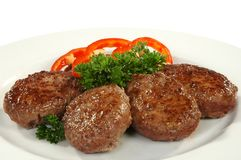 Four cutlets Royalty Free Stock Photos