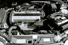 Four cylinder car engine. And compartment Royalty Free Stock Image