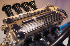 Four Cylinder Car's Engine Detailed Closeup Stock Photos