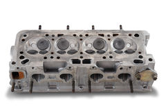 Four cylinder engine head Stock Photos