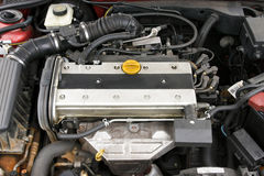 Four cylinder modern petrol motor Royalty Free Stock Photos