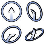Four 3d blue arrows Royalty Free Stock Photography