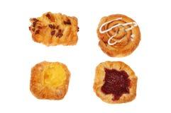 Four Danish pastries Royalty Free Stock Photos