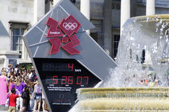 Four days to London 2012 Olympics Stock Photography