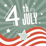 Four de Onafhankelijkheidsdag van Juli 1776 Stock Foto's