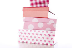 Four Decorative Boxes Stock Photos