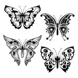 Four decorative butterflies Royalty Free Stock Images