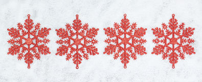 Four decorative Christmas snowflakes. Royalty Free Stock Image