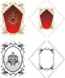 Four decorative elements for design Royalty Free Stock Images