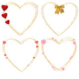 Four decorative hearts Stock Image