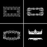 Four Decorative Vintage Ornate Banners. Royalty Free Stock Images