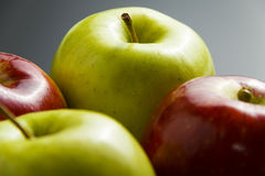 Four delicious apples. Royalty Free Stock Photo
