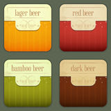 Four Design Beer Labels Stock Photography