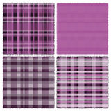 Four design of textile pattern Royalty Free Stock Image