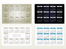 Four designs of calendar for 2011 (sun-sat) Stock Photography