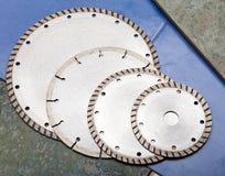 Four diamond construction disks Royalty Free Stock Photos