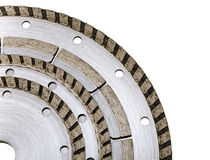 Four diamond disks for are sharp construction materials lie the friend on the friend Royalty Free Stock Photo