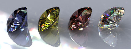 Four Diamonds Stock Photography