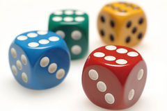 Four dice Stock Photography