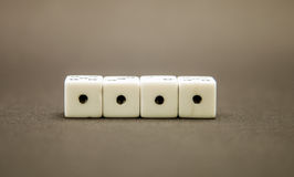 Four dice Royalty Free Stock Photo