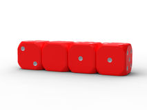 Four dice of the new year 2011 Stock Photography