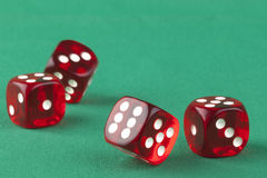 Four Dice Royalty Free Stock Image