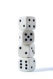 Four dice Stock Image